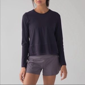 WHITE Lululemon long sleeve top